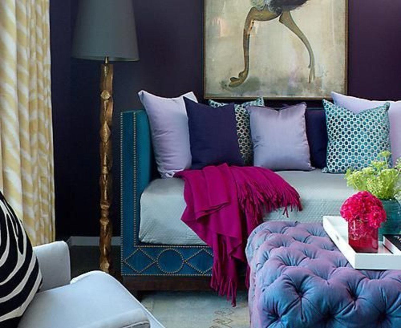 The Luxurious Feel Of Jewel Tones In Home Decorating